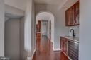 Butler Pantry with Wine Cooler - 22441 BEAVERDAM DR, ASHBURN