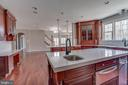 Kitchen Island with Food Warmer & Trash Compactor - 22441 BEAVERDAM DR, ASHBURN