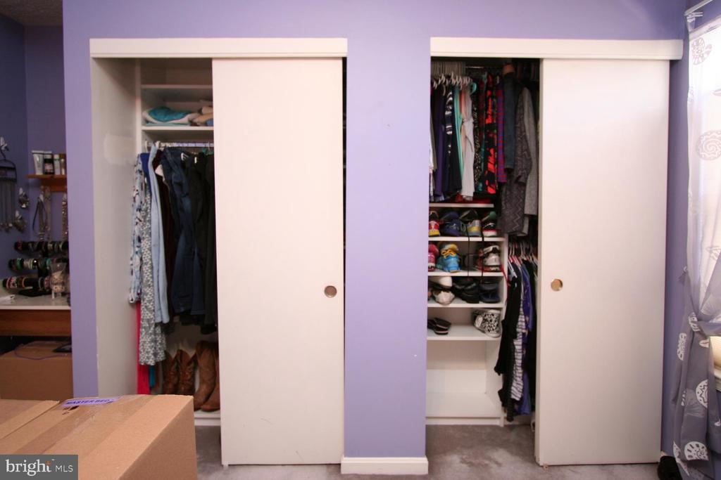 Primary Bedroom closets! - 13970 BIG YANKEE LN, CENTREVILLE