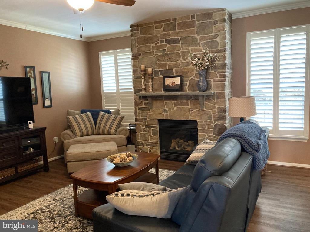 Family Room with Stone Fireplace - 4170 MCCLOSKEY CT, CHANTILLY