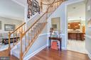 with hardwood floors and curving staircase - 3 LEGAL CT, STAFFORD