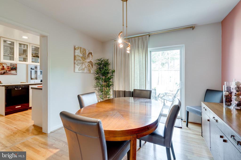 Separate Dining Room with Door Leading to Patio - 8800 TRAFALGAR CT, SPRINGFIELD