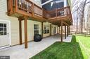 Large patio off basement - 20693 LONGBANK CT, STERLING