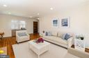 Living Room (Virtual Staging) - 8522 CYRUS PL, ALEXANDRIA