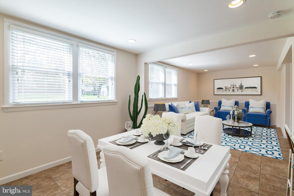 Dining Rm and Fam Rm (Virtual Staging) - 8522 CYRUS PL, ALEXANDRIA
