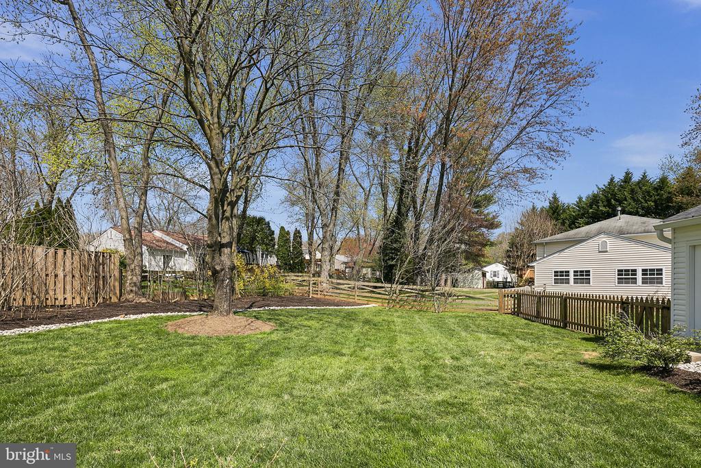 Oh the yard! - 9611 GLENARM CT, BURKE