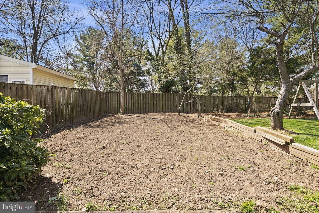Large spot has been tilled for a vegetable garden - 9611 GLENARM CT, BURKE