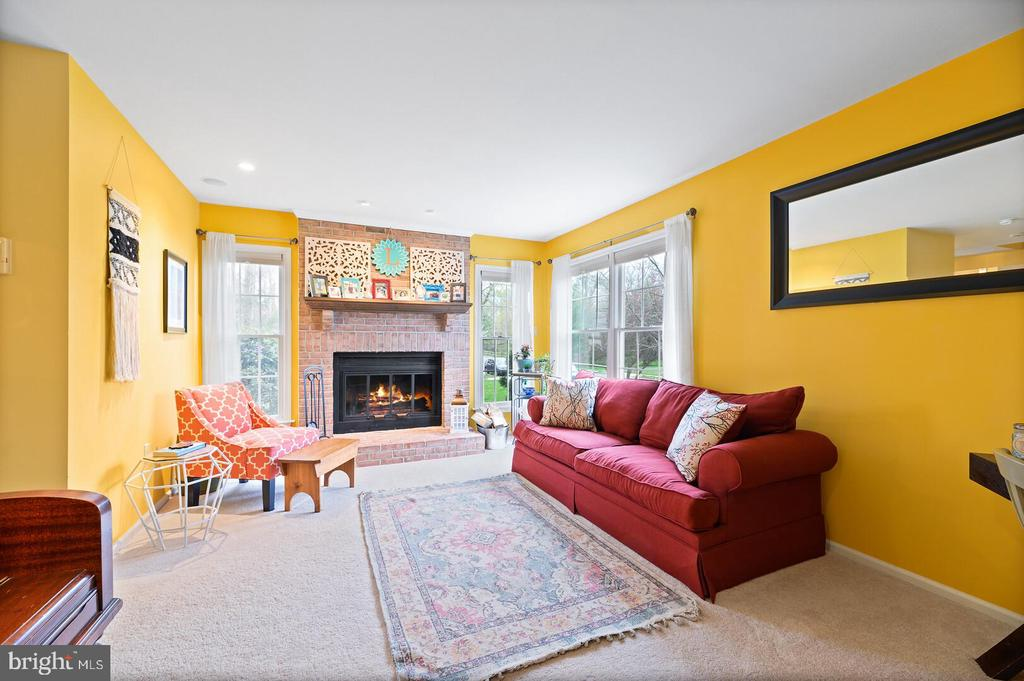Great Room/Living Room & fireplace - 16 MCPHERSON CIR, STERLING