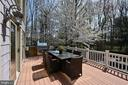 Deck with Builtin Grill - 10303 FOREST MAPLE RD, VIENNA