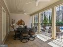 Covered Patio with Built-in Brick Oven - 10303 FOREST MAPLE RD, VIENNA