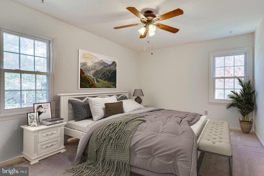 *Virtual Staging* in Primary Bedroom - 9600 GLENARM CT, BURKE