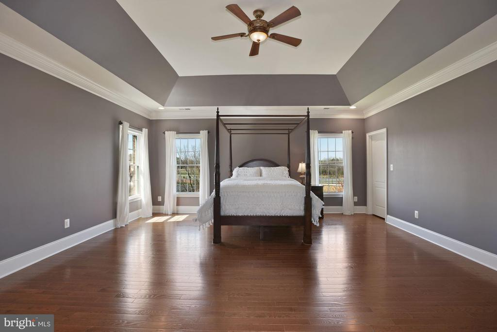 Primary Bedroom w/ Coffered Ceiling - 19979 BELMONT STATION DR, ASHBURN