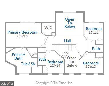 Upper Level Floor Plan - 18315 SEA ISLAND PL, LEESBURG