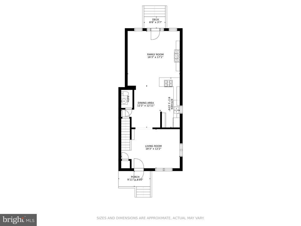 Floor Plan - Main Level - 8 E CHAPMAN ST, ALEXANDRIA
