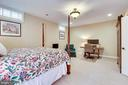 Lower Level Bedroom - 10515 VALE RD, OAKTON