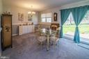 13 x 11 dining room with chair rail. - 463 HARTWOOD RD, FREDERICKSBURG