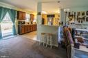 Pass through bar from kitchen into family room - 463 HARTWOOD RD, FREDERICKSBURG