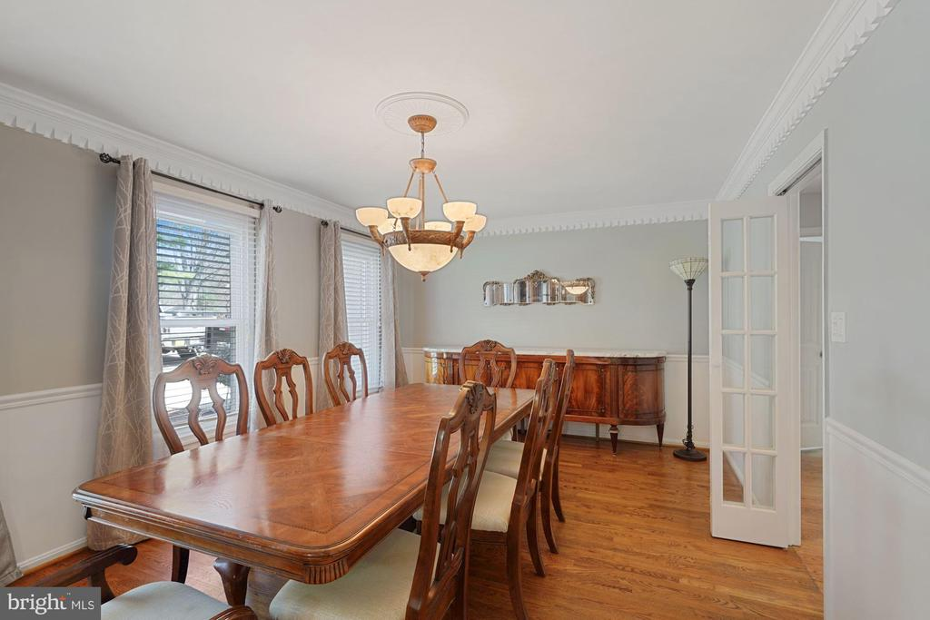 Spacious dining room; great for entertaining - 11935 RIDERS LN, RESTON
