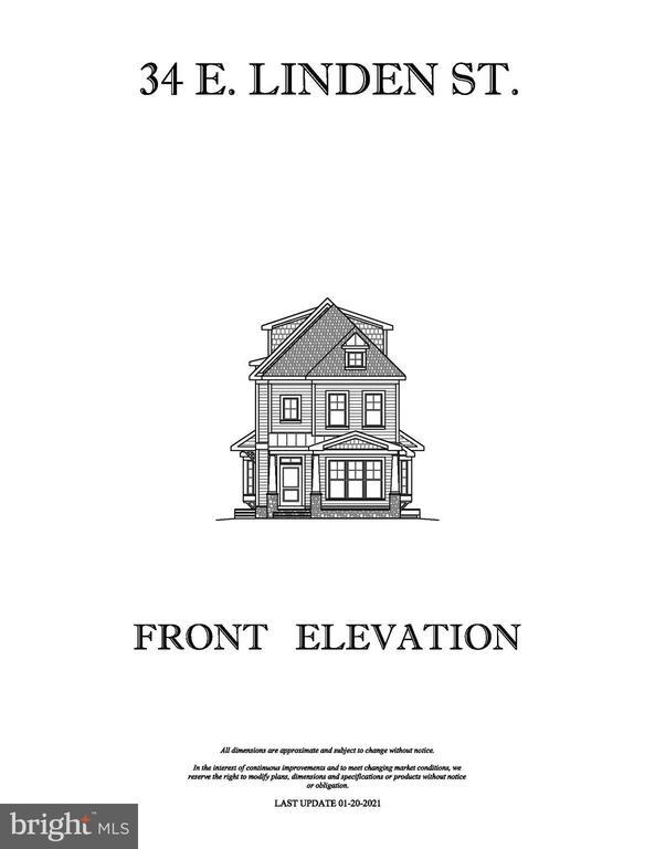 FRONT ELEVATION - 34 E LINDEN ST, ALEXANDRIA