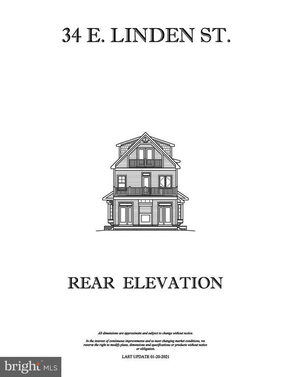 REAR ELEVATION - 34 E LINDEN ST, ALEXANDRIA