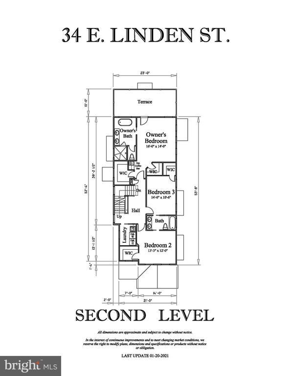 SECOND LEVEL FLOOR PLAN - 34 E LINDEN ST, ALEXANDRIA
