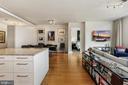 Open floor plan with oak hardwood flooring - 1177 22ND ST NW #4G, WASHINGTON