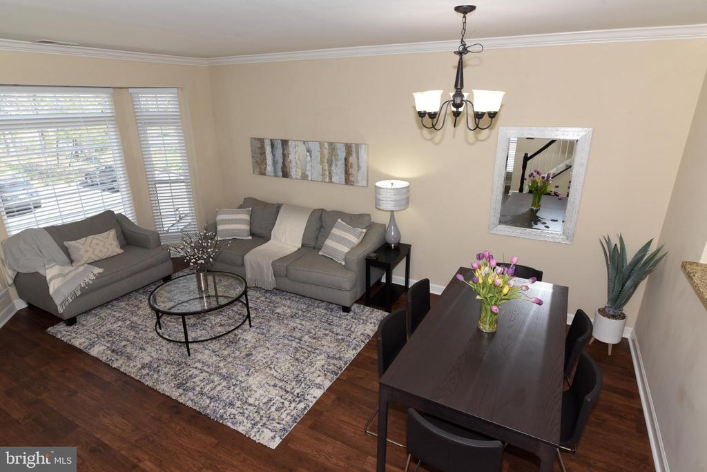 View of Living and Dining Rooms. - 47641 WEATHERBURN TER, STERLING