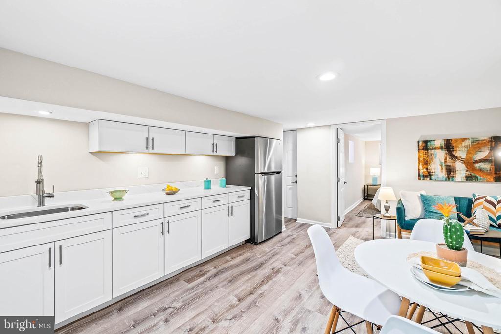 Basement / Rental kitchen & Walkout Rear door - 1003 FLORIDA AVE NE, WASHINGTON