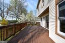 Freshly painted deck - 5316 DUNLEIGH DR, BURKE