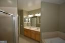 Primary bath - 1830 FOUNTAIN DR #1206, RESTON