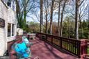 Enjoy the views of nature from the deck - 847 WHANN AVE, MCLEAN