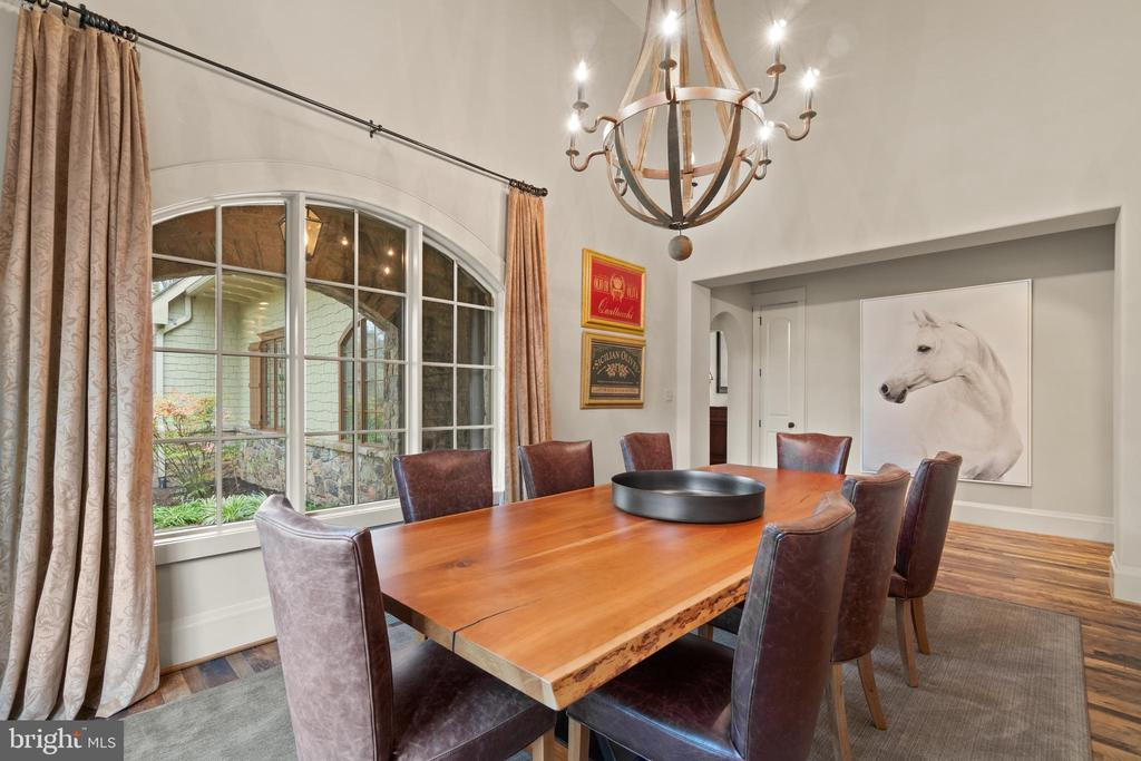 Dining Room with Vaulted Ceiling - 817 MACKALL, MCLEAN