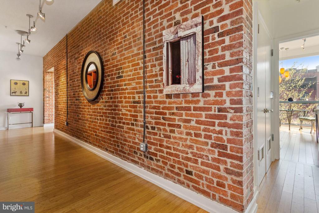 Dramatic Foyer - Exposed Brick - 1413 P ST NW #302, WASHINGTON