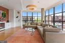 Living Area - 11' Ceilings - 1413 P ST NW #302, WASHINGTON