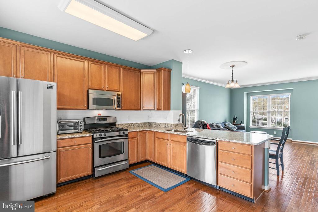 Updated Kitchen with new Refrigeratior - 42791 FLANNIGAN TER, CHANTILLY