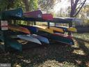 Racks for private kayak or canoe storage - 18359 EAGLE POINT SQ, LEESBURG