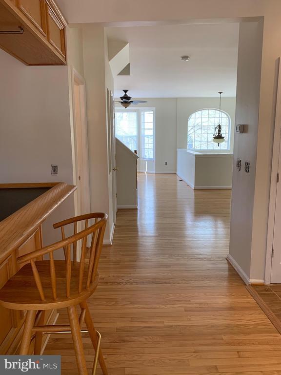 Main Level Hardwood Floor Refinished - 11436 ABNER AVE, FAIRFAX