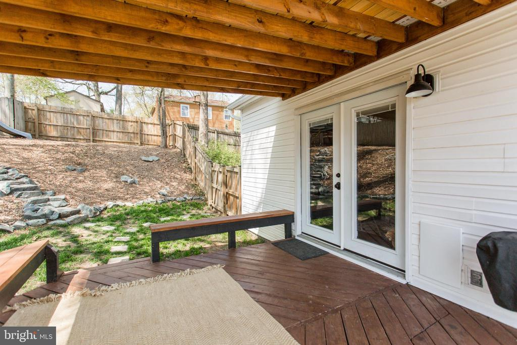 Back deck is off the family room - 2 SNOW MEADOW LN, STAFFORD