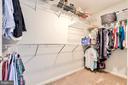 Huge Walk-in closet - 20487 MORNINGSIDE TER, STERLING