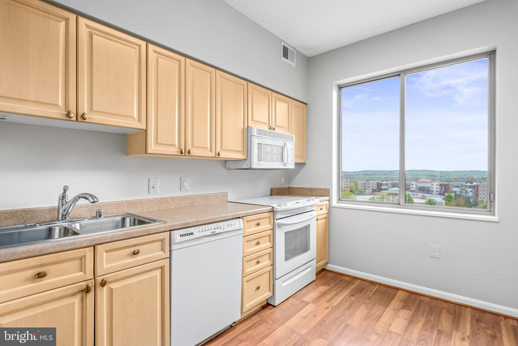 Great view from Kitchen - 19375 CYPRESS RIDGE TER #516, LEESBURG