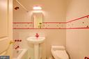 Whimsical Lower Level Bathroom - 220 VIERLING DR, SILVER SPRING
