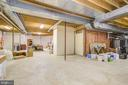 Unfinished Area of Lower Level - 220 VIERLING DR, SILVER SPRING