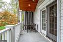 Balcony off of Master Bedroom - 2148 LILY POND DR, FALLS CHURCH