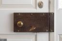 Wonderful original hardware on the front door - 21943 ST LOUIS RD, MIDDLEBURG