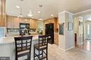 Kitchen - Breakfast Bar Perfect for Casual Dining! - 11007 HOWLAND DR, RESTON