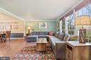 Living Room - Stunning Wall of Windows - SO BRIGHT - 11007 HOWLAND DR, RESTON