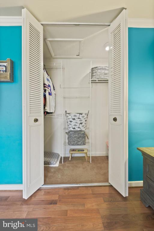 Bedroom #2 - Generously Sized Closet! - 11007 HOWLAND DR, RESTON