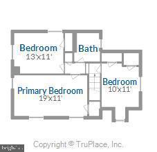 Upper level floor plan - 301 W GLENDALE AVE, ALEXANDRIA