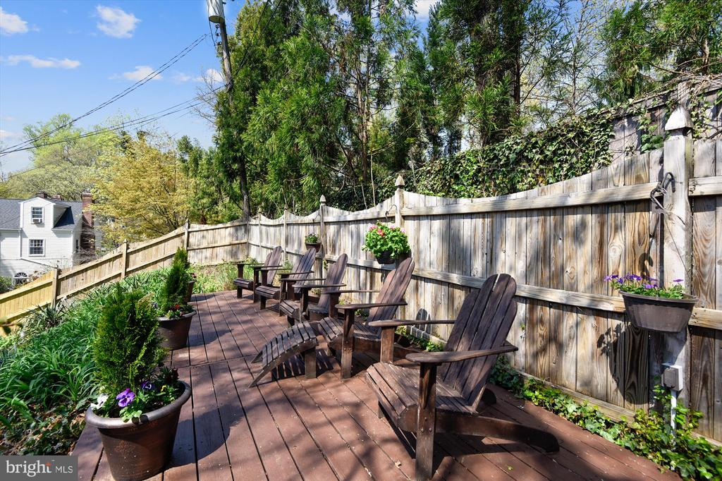 Wide wooden deck space for additional entertaining - 301 W GLENDALE AVE, ALEXANDRIA