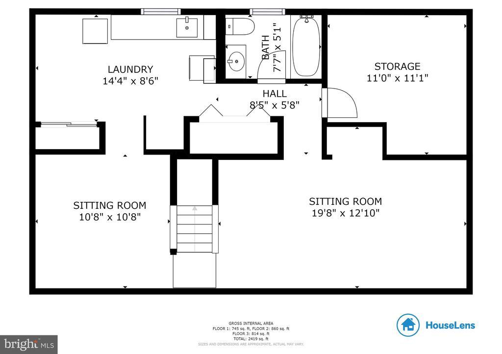 Lower Level Floorplan - 10 LODGE PL, ROCKVILLE